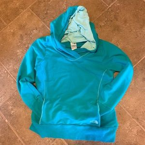 North Face Hoodie Teal Color - Med
